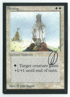 Magic the Gathering Beta Artist Proof Blessing - SIGNED BY JULIE BAROH
