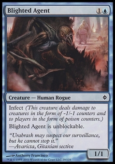 Magic the Gathering New Phyrexia Single Blighted Agent FOIL - NEAR MINT (NM)