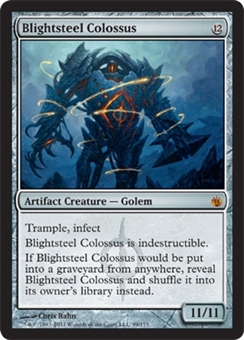 Magic the Gathering Mirrodin Besieged Single Blightsteel Colossus Foil NEAR MINT (NM)