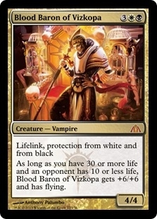 Magic the Gathering Dragon's Maze Single Blood Baron of Vizkopa Foil