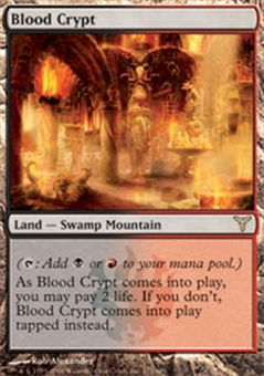 Magic the Gathering Dissension Single Blood Crypt - MODERATE PLAY (MP)