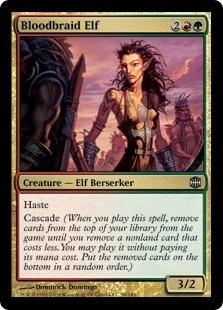 Magic the Gathering Alara Reborn Single Bloodbraid Elf FOIL