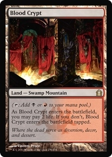 Magic the Gathering Return to Ravnica Single Blood Crypt - SLIGHT PLAY (SP)