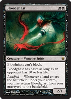 Magic the Gathering Zendikar Single Bloodghast Foil