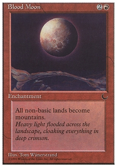 Magic the Gathering Chronicles Single Blood Moon - SLIGHT PLAY (SP)