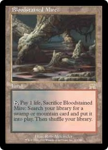 Magic the Gathering Onslaught Single Bloodstained Mire - MODERATE PLAY (MP)