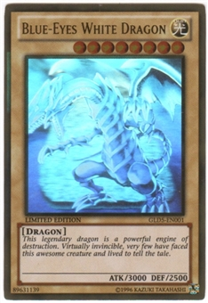 Yu-Gi-Oh Gold Series 5 Single Blue Eyes White Dragon Ghost Rare
