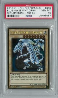 Yu-Gi-Oh! Premium Gold: Return of the Bling 1st Ed. Blue-Eyes White Dragon Gold Rare PSA 10