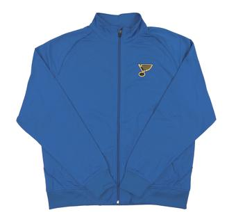 St. Louis Blues Level Wear Chaser Blue Performance Full Zip Track Jacket (Adult X-Large)