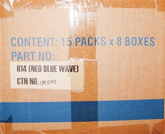 Deck Protectors Neo Blue Wave Sleeves 120 Pack Case (50 count pack) Max Protect