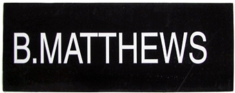 Bryant Matthews NBA Draft Board Basketball Nameplate (One of a Kind!)