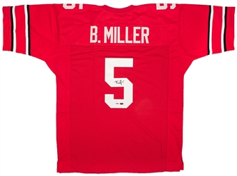 Braxton Miller Autographed Ohio State Buckeyes Jersey (Leaf Authentics and PSA/DNA)