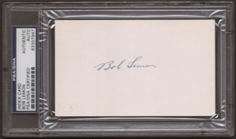 Bob Lemon Autograph (Index Card) PSA/DNA Certified *7947