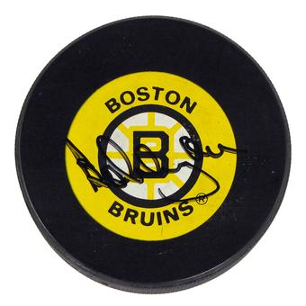Bobby Orr Autographed Boston Bruins Official Game Puck (JSA)