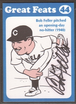 Bob Feller Signed in Person Auto