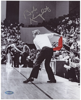 Bobby Knight Autographed Indiana University 8x10 Basketball Photo (Steiner)