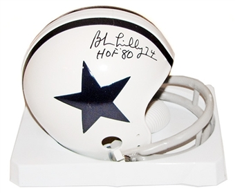 Bob Lilly Autographed Dallas Cowboys Mini Helmet (JSA COA)