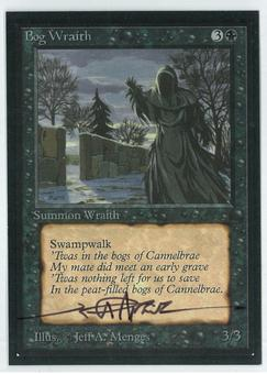 Magic the Gathering Beta Artist Proof Bog Wraith - SIGNED BY JEFF A. MENGES