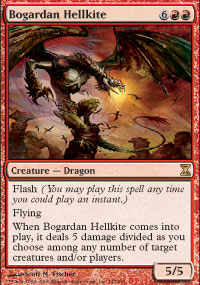 Magic the Gathering Time Spiral Single Bogardan Hellkite - NEAR MINT (NM)