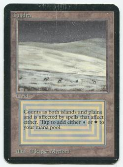 Magic the Gathering Alpha Single Tundra MODERATE PLAY (MP)