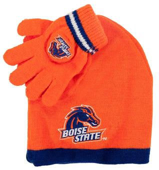 Boise State Broncos Adidas Orange Cuffless Knit Hat and Glove Set (Toddler 2-4T)