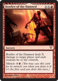 Magic the Gathering Avacyn Restored Single Bonfire of the Damned Foil