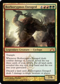 Magic the Gathering Gatecrash Single Borborygmos Enraged - NEAR MINT (NM)