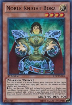 Yu-Gi-Oh Shadow Specters 1st Edition Single Noble Knight Borz Super Rare Near Mint (NM)