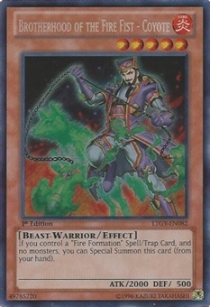 Yu-Gi-Oh Lord Tachyon Galaxy Single Brotherhood of the Fire Fist - Coyote Secret Rare