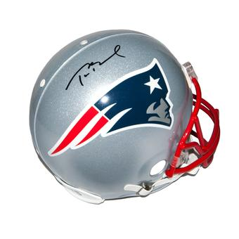 Tom Brady Autographed New England Patriots On-Field Authentic Proline Full Size Helmet (Mounted Memories)