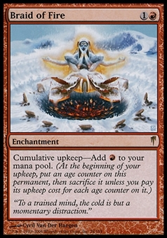 Magic the Gathering Coldsnap Single Braid of Fire - NEAR MINT (NM)