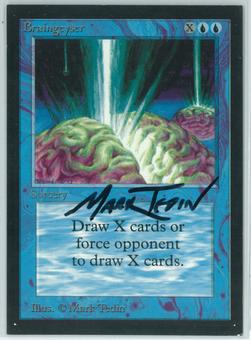 Magic the Gathering Beta Artist Proof Braingeyser - SIGNED BY MARK TEDIN