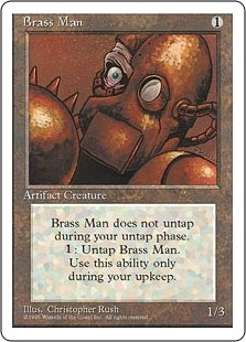 Magic the Gathering 4th Edition Single Bronze Tablet UNPLAYED (NM/MT)