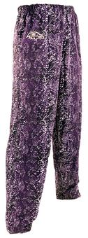 Baltimore Ravens Zubaz Purple and Black Post Print Pants (Adult L)