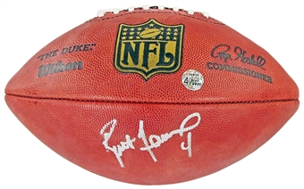 Brett Favre Autographed NFL Authentic Football (Favre & Steiner)