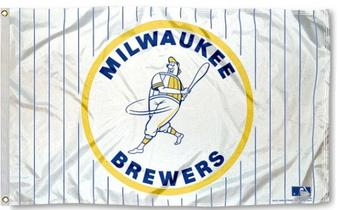 Milwaukee Brewers Rico Industries 3' x 5' Retro Banner Flag
