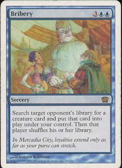 Magic the Gathering 8th Edition Single Bribery - SLIGHT PLAY (SP)
