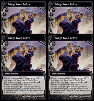 Magic the Gathering Future Sight PLAYSET Bridge from Below x4 - SLIGHT PLAY (SP)