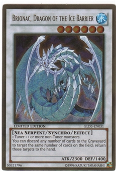 Yu-Gi-Oh Gold Series 5 Single Brionac, Dragon of the Ice Barrier Gold Rare