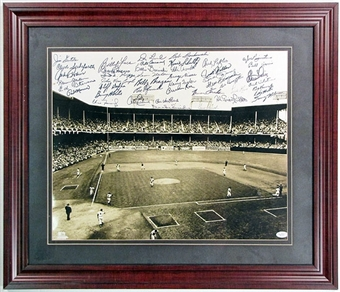 Brooklyn Dodgers - Ebbets Field Signed & Framed 16x20 Photo w/Snyder, Reese