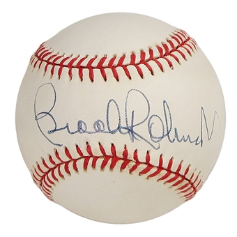 Brooks Robinson Autographed Official Major League Baseball (GAI COA)