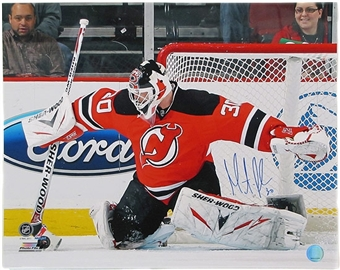 Martin Brodeur Autographed New Jersey Devils 16x20 Photo Front