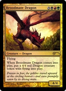 Magic the Gathering Promotional Single Broodmate Dragon Foil (Resale Promo) - SLIGHT PLAY (SP)