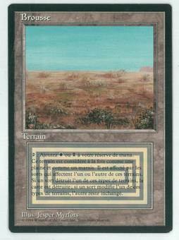 Magic the Gathering 3rd Ed (Revised) FBB FRENCH Single Scrubland - NEAR MINT (NM)