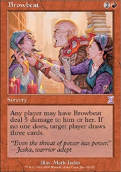 Magic the Gathering Time Spiral Single Browbeat - SLIGHT PLAY (SP)