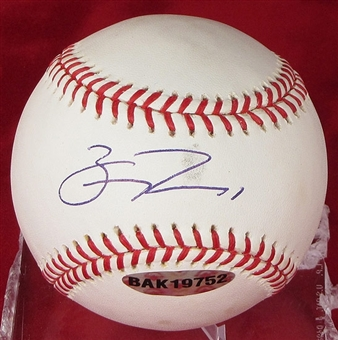 Bill Rowell Autographed Baseball (Stained) (UDA COA)
