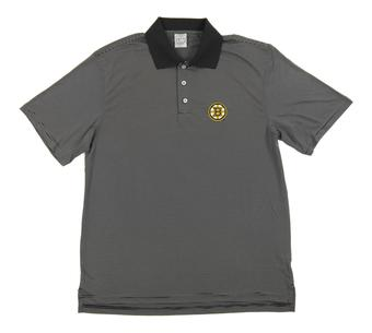 Boston Bruins Level Wear Dunhill Black Performance Polo