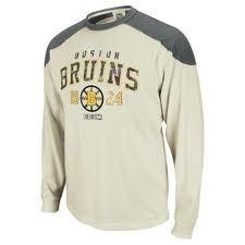 Boston Bruins Reebok Team Classics Applique Long Sleeve T-Shirt (Size Medium)