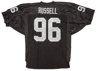 Darrell Russell Autographed Oakland Raiders Authentic Wilson Proline Jersey (Press Pass)