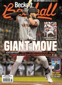 2016 Beckett Sports Card Monthly Price Guide (#380 November) (Kris Bryant)